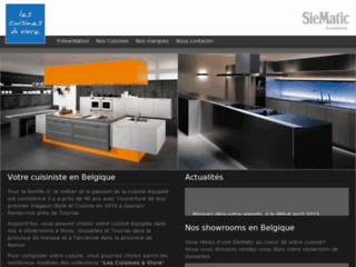 cuisines quip es en belgique les cuisines vivre siematic. Black Bedroom Furniture Sets. Home Design Ideas