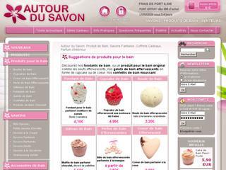 http://www.autour-du-savon.com/Savons-gateaux-fantaisie-gourmands-bain.htm