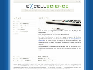 http://www.cours-excellscience.com/
