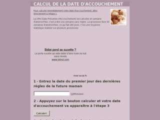 http://calculdateaccouchement.fr/