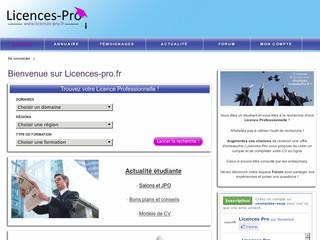 http://www.licences-pro.fr/