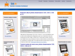 http://www.tutoriels-extensions-dreamweaver.fr/